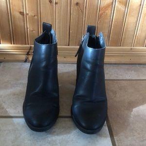 Black Vegan leather DV Ankle Booties